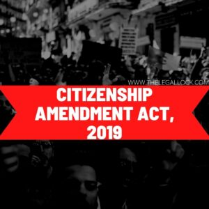 CITIZENSHIP AND IMMIGRATION LAWS IN INIDA, CITIZENSHIP AMENDMENT ACT 2019